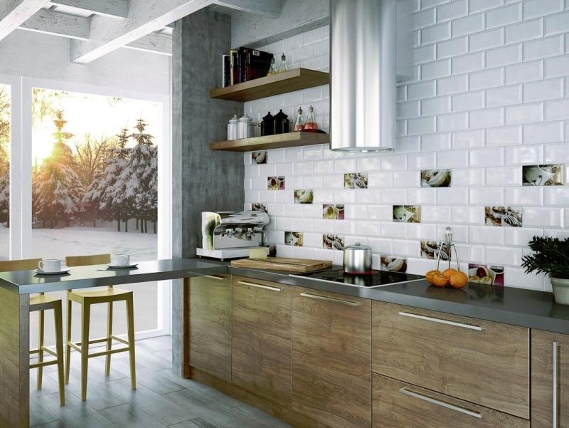 Eleganckie drewno świetnie sprawdza się na frontach mebli kuchennych.