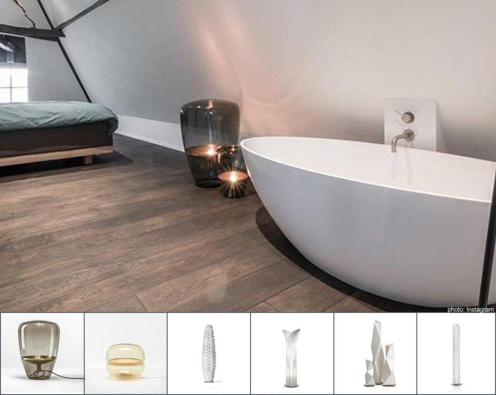 lampy podłogowe w łazience