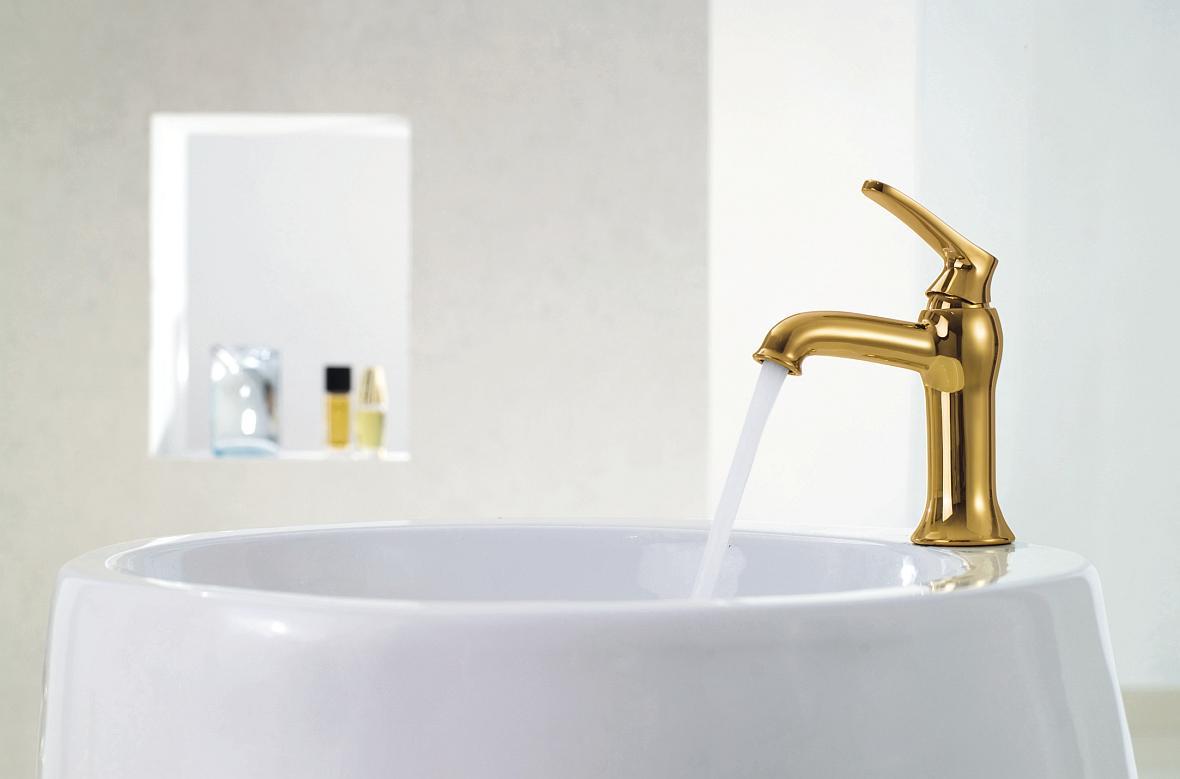 Stylizowane Złote I Miedziane Baterie łazienkowe Moda