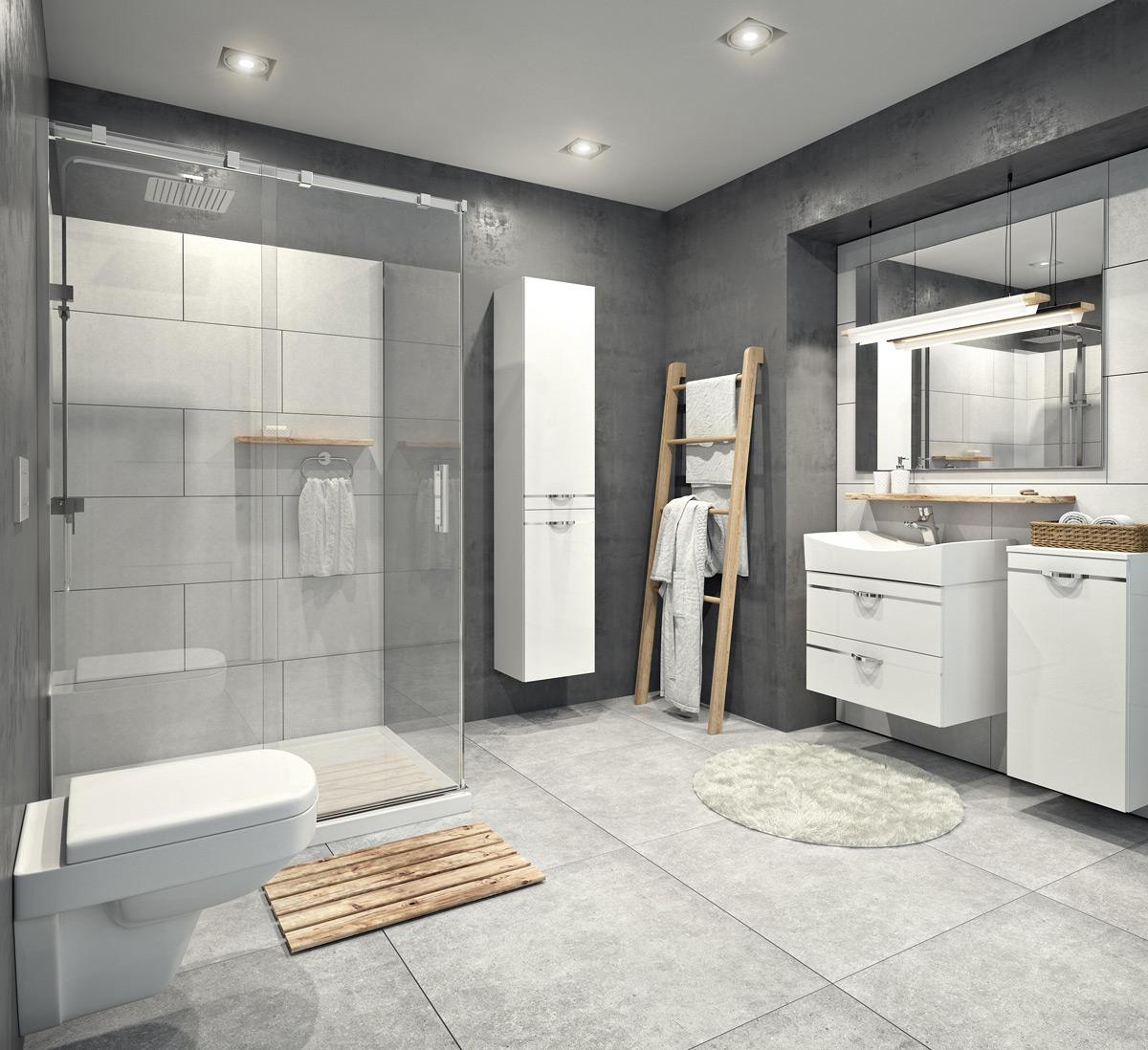 łazienka W Stylu Industrialnym Sklep Zielonalazienkapl