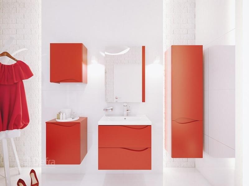 czerwone meble łazienkowe