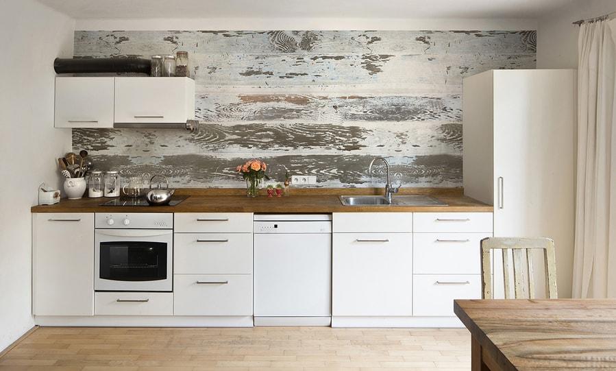 fototapeta kuchenna wyglądająca jak drewno