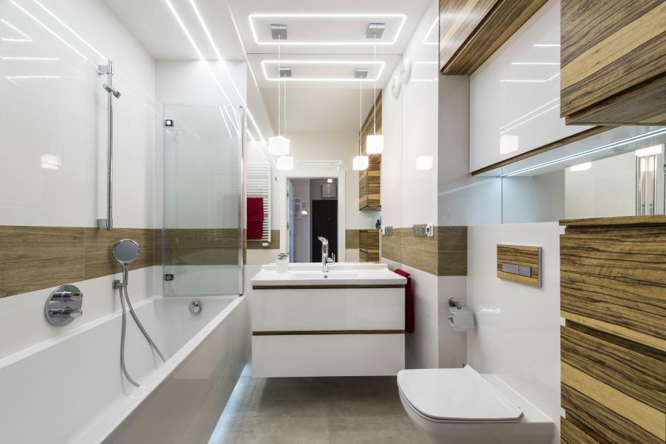 ledowe światło w łazience