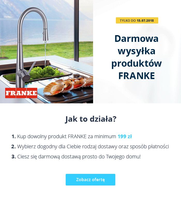 Darmowa dostawa produktów Franke