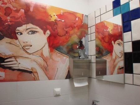 Sztuka w łazience